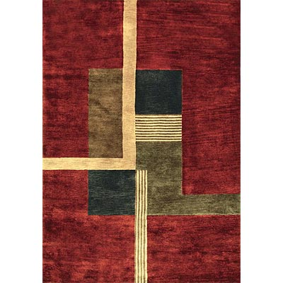 Loloi Rugs Crescent 8 x 11 Red Charcoal Area Rugs
