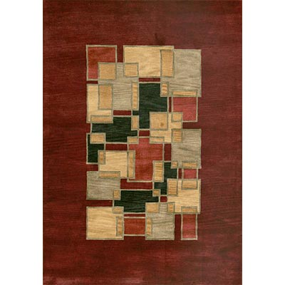 Loloi Rugs Crescent 8 x 11 Red Multi Area Rugs