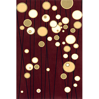 Momeni, Inc. Elements 8 Round Burgundy Area Rugs