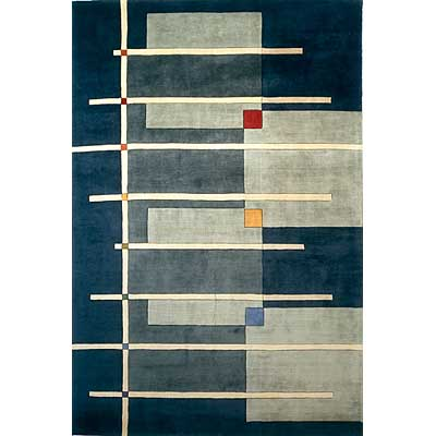 Momeni, Inc. New Wave 10 x 14 New Wave Navy Area Rugs