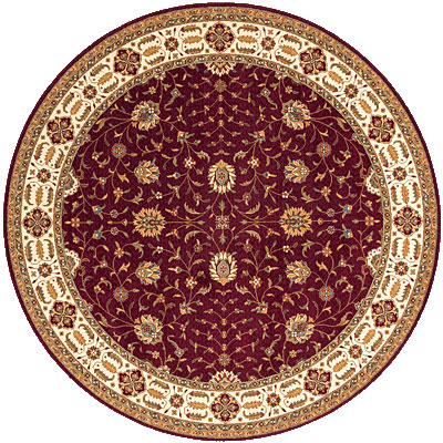 Momeni, Inc. Persian Garden 8 Round Burgundy Area Rugs