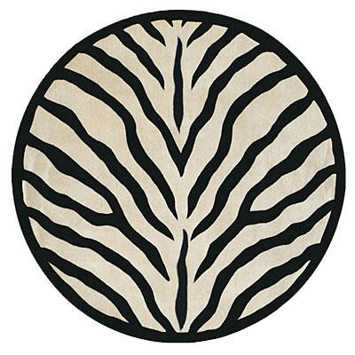 Nejad Rugs African Safari 5 Round Zebra Area Rugs
