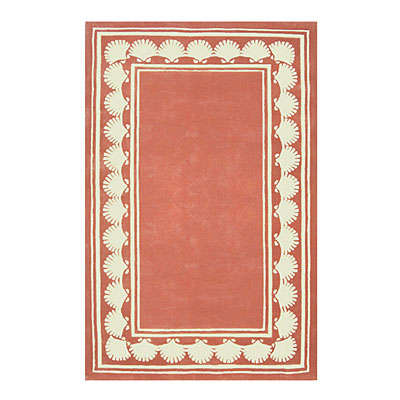 Nejad Rugs Shell Border 5 X 8 LIGHT CORAL Area Rugs