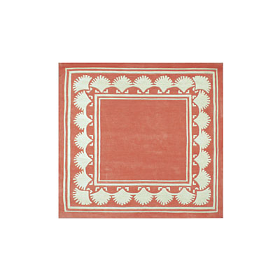 Nejad Rugs Shell Border 5 Square LIGHT CORAL Area Rugs