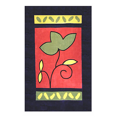 Nejad Rugs The Bright Collection 4 x 6 A Single Flower Navy/Rose Area Rugs