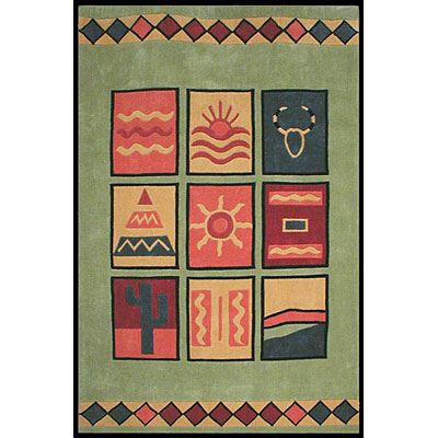 Nejad Rugs The Bright Collection 8 x 11 Sizzle Lime Area Rugs