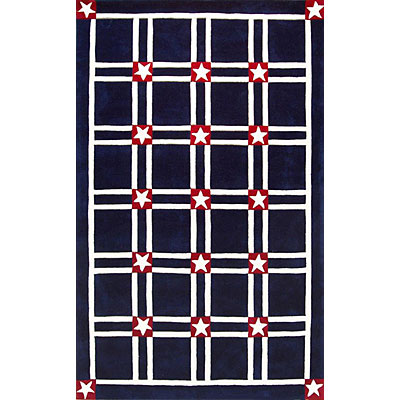 Nejad Rugs The Bright Collection 4 x 6 Stars & Stripes Navy/White Area Rugs