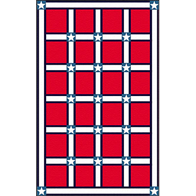 Nejad Rugs The Bright Collection 5 x 8 Stars & Stripes Red/White Area Rugs