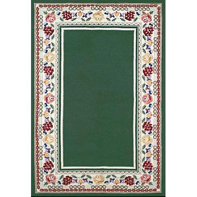 Nejad Rugs Bucks County - Border Rug 6 x 9 Emerald Green/Ivory Area Rugs