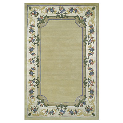 Nejad Rugs Floral Garden 10 x 14 Floral Border Pale Yellow/Ivory Area Rugs