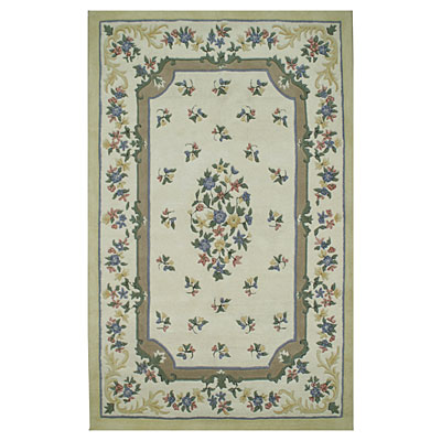 Nejad Rugs Floral Garden 12 x 15 Floral Aubuson Ivory/Ivory/Yellow Area Rugs