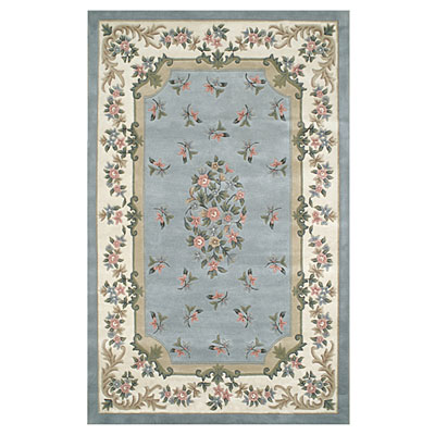 Nejad Rugs Floral Garden 12 x 15 Floral Aubuson Light Blue/Ivory Area Rugs