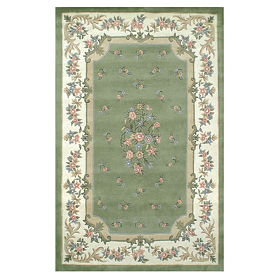 Nejad Rugs Floral Garden 12 x 18 Floral Aubuson Light Green/Ivory Area Rugs