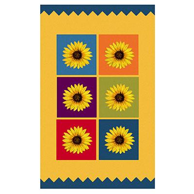Nejad Rugs The Kids Rugs 4 X 6 Sunflower Blocks Yellow/Multi Area Rugs