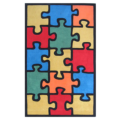 Nejad Rugs The Kids Rugs 4 X 6 Jigsaw Puzzle Multi/Colors Area Rugs