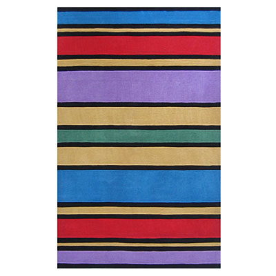 Nejad Rugs The Kids Rugs 5 X 8 Comic Bood Stripes Multi Area Rugs
