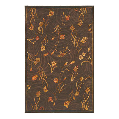 Nejad Rugs Garden Flowers 9 x 12 Brown/Brown Area Rugs