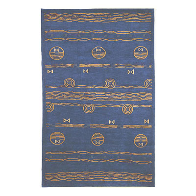 Nejad Rugs Ocean Vibes 9 X 12 BLUE/GOLD Area Rugs
