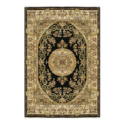 Nejad Rugs Signature Heirloom 10 x 14 Fine Savaneri Black/Gold Area Rugs