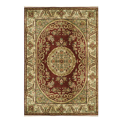 Nejad Rugs Signature Heirloom 10 x 14 Fine Savaneri Burgundy/Gold Area Rugs