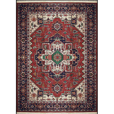 Nejad Rugs Signature Heirloom 12 x 15 HERIZ RUST/NAVY Area Rugs