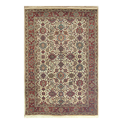 Nejad Rugs Signature Heirloom 6 X 9 Mahal Antique Ivory/Rust Area Rugs