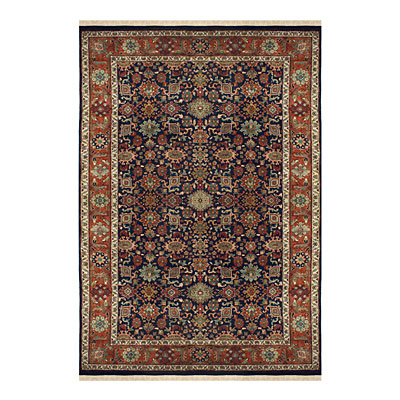 Nejad Rugs Signature Heirloom 12 x 18 MAHAL NAVY/RUST Area Rugs