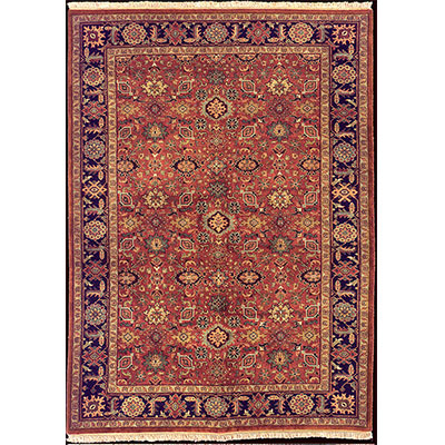 Nejad Rugs Signature Heirloom 9 X 12 Mahal Rust/Navy Area Rugs