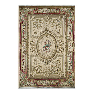Nejad Rugs Signature Heirloom 10 x 14 Grand Aubuson Gold/Coral Area Rugs