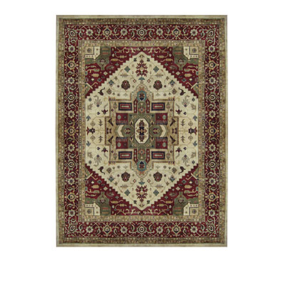 Nejad Rugs Signature Heirloom 6 X 9 Serapi Antique Ivory/Burgundy Area Rugs