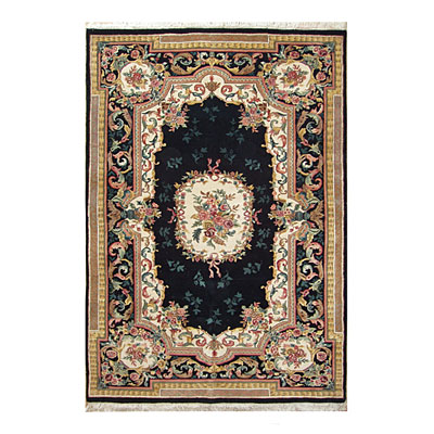 Nejad Rugs Signature Masterpiece 9 X 12 Aubuson Black Area Rugs