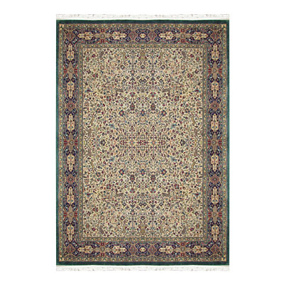 Nejad Rugs Signature Masterpiece 12 x 18 Hunt Tabriz Antique Ivory/Navy/Emerald Area Rugs