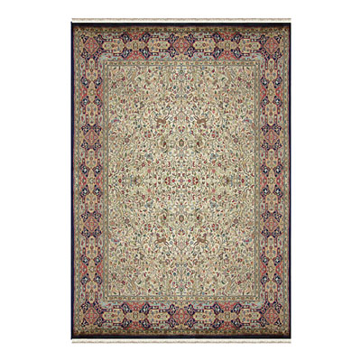 Nejad Rugs Signature Masterpiece 9 X 12 Hunt Tabriz Antique Ivory/Navy Area Rugs