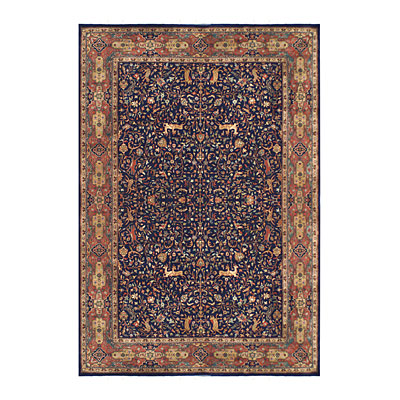Nejad Rugs Signature Masterpiece 9 X 12 Hunt Tabriz Navy/Rust Area Rugs