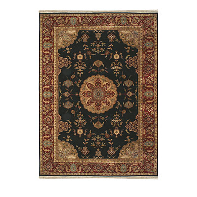 Nejad Rugs Signature Masterpiece 3 X 5 Signature Tabriz Med Black/Burgundy Area Rugs