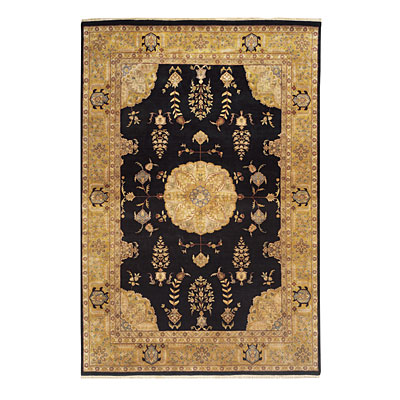 Nejad Rugs Signature Masterpiece 9 X 12 Signature Tabriz Med Black/Gold Area Rugs