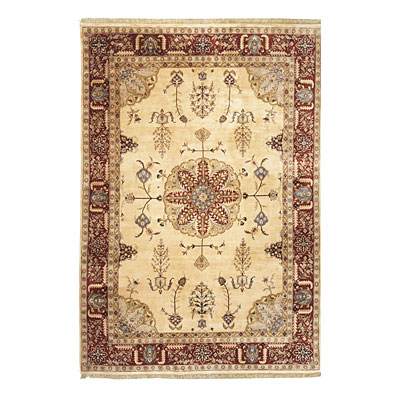 Nejad Rugs Signature Masterpiece 6 X 9 Signature Tabriz Med Gold/Burgundy Area Rugs