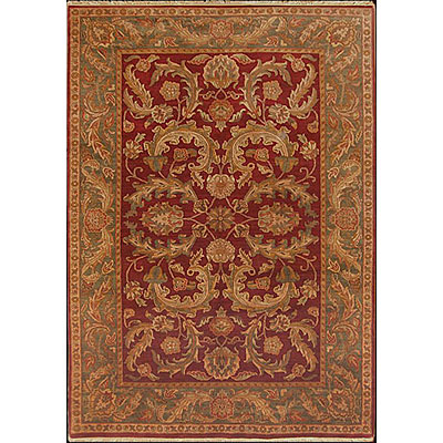 Nejad Rugs Signature Masterpiece 6 X 9 Old World Agra Burgundy/Emerald Area Rugs