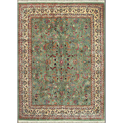 Nejad Rugs Signature Masterpiece 12 x 18 Kashan Light Green/Ivory Area Rugs