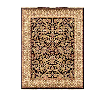 Nejad Rugs Signature Museum 8x10 Kashan Dabir Black/Antique Ivory Area Rugs