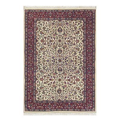 Nejad Rugs Signature Traditional 4 x 6 Tabriz Ivory/Burgundy Area Rugs