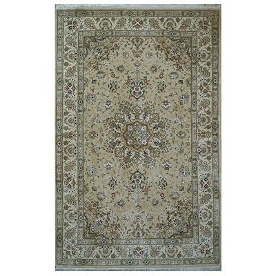 Nejad Rugs Silk & Wool 6 x 9 Tabriz Beige/Ivory Area Rugs