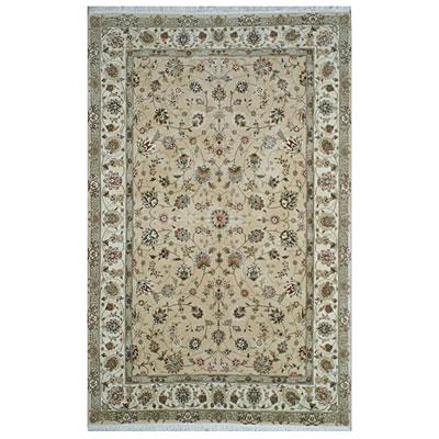 Nejad Rugs Silk & Wool 10 x 14 Tabriz Beige/Ivory Area Rugs