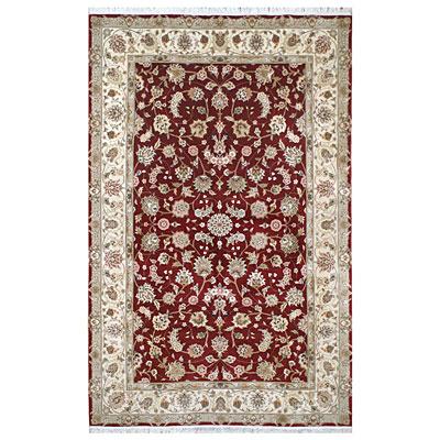 Nejad Rugs Silk & Wool 10 x 14 Tabriz Burgundy/Ivory Area Rugs