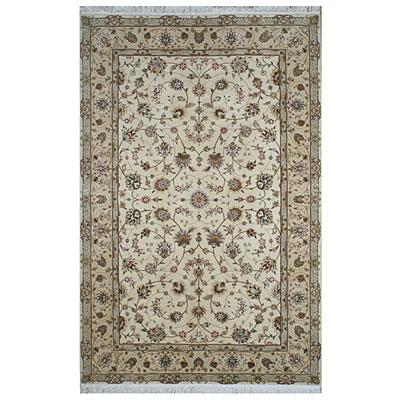 Nejad Rugs Silk & Wool 10 x 14 Tabriz Ivory/Beige Area Rugs