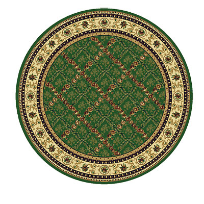 Rug One Imports Royal Bouquet 8 Round Khaki Area Rugs