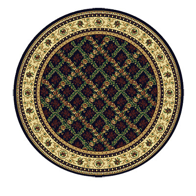 Rug One Imports Royal Bouquet 8 Round Midnight Area Rugs