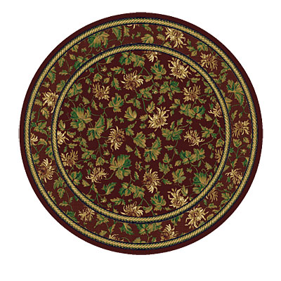 Rug One Imports Royal Elegance 8 Round Claret Area Rugs