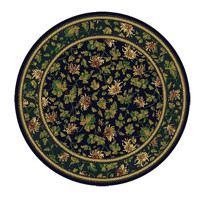 Rug One Imports Royal Elegance 8 Round Midnight Area Rugs
