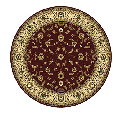 Rug One Imports Royal Tradition 8 Round Claret Area Rugs
